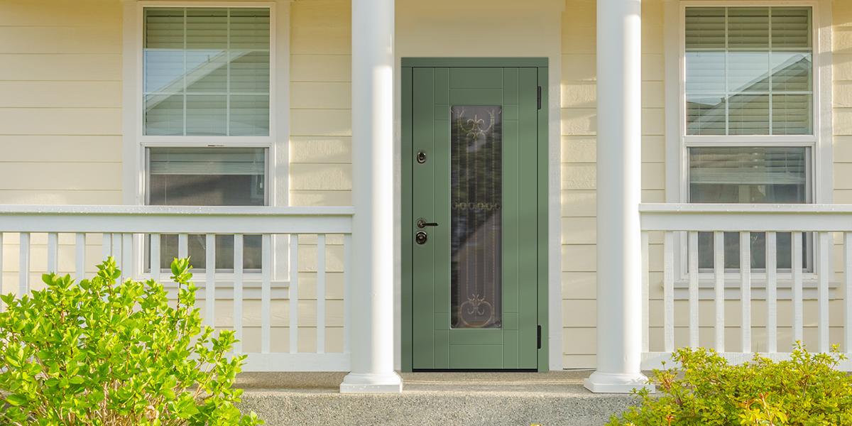 Входная дверь «Бенвиль» в оттенке «Оливковый»