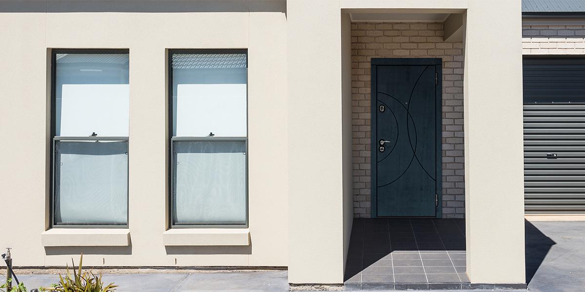 Дверь «Саунд» вэкстерьере