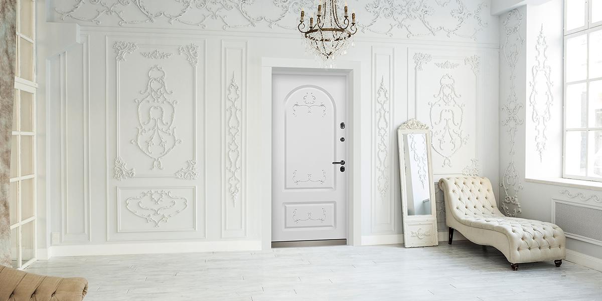 Входная дверь «Лео» в оттенке «Белый»