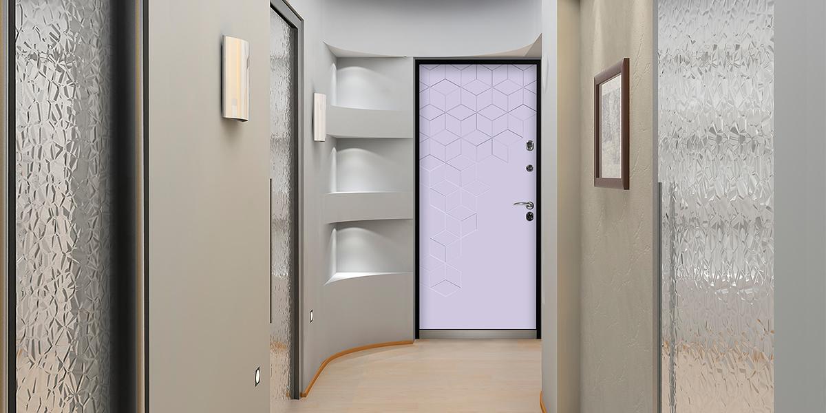 Дверь «Теруэль» в оттенке «Белый» в интерьере