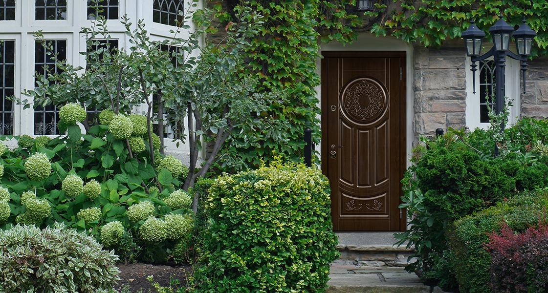 Входная дверь «Лео» в оттенке «Дуб темный»