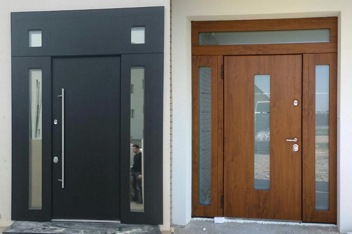 Двупольные двери с окнами