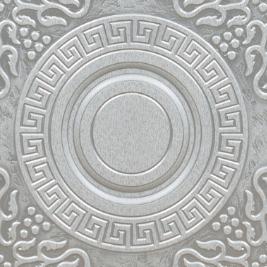 Белый, патина серебро