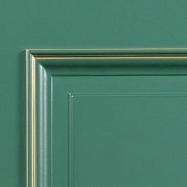 SteelLak «Зеленый турмалин» (гладкая), патина золото