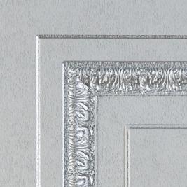 SteelLak «Белый» (гладкая), патина серебро
