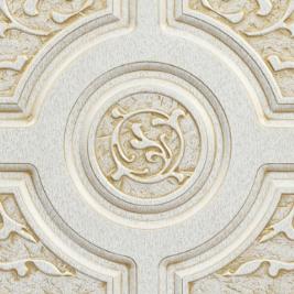 Белый, патина золото