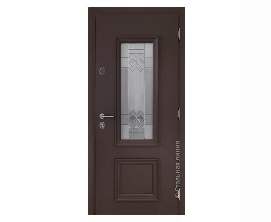 Теплая двери Хаски В с витражом